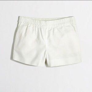 Ivory pull on shorts